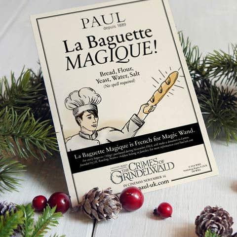 PAUL UK donates 20p for each baguette (200gr) purchased to LUMOS