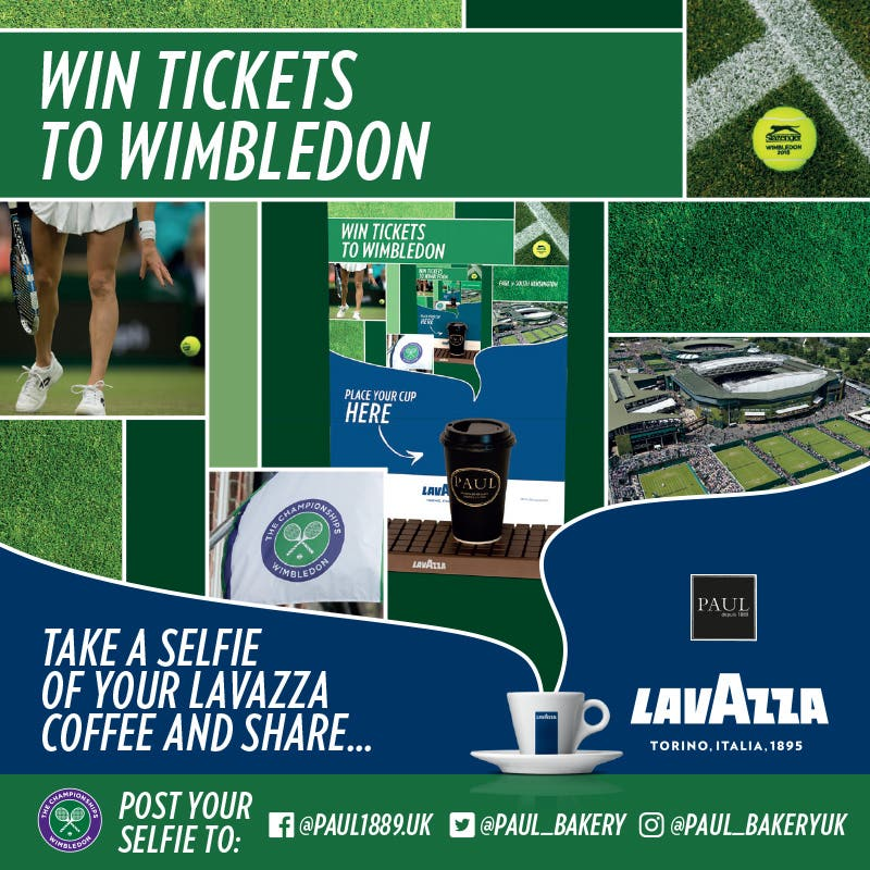 WIN TICKETS TO WIMBLEDON WITH PAUL AND LAVAZZA