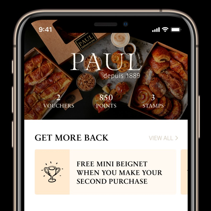 Earn Free Treats and Drinks via PAUL UK App