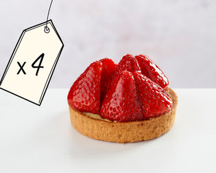 4 Strawberry Tartlets