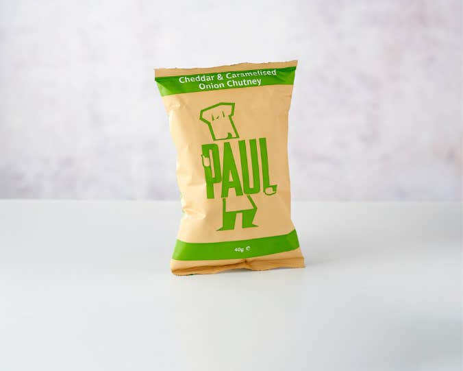 Paul Crisps - Cheddar & Caramelised Onion Chutney