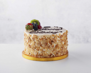 Almond & Marzipan Fruit Gâteau