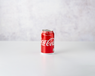 Coca Cola 330ml front view
