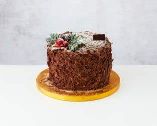 Christmas Forest Yule Log Cake