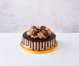 Small Chocolate Macaron Cake