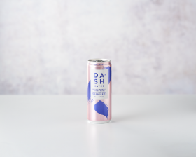 Dash Sparkling water with Raspberries 330ml front view