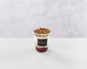 Small strawberry yogurt pot front view