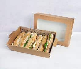 Winter Vegetarian Sandwich Platter front view