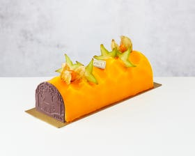 Coconut and Passion Fruit Yule Log – Serves 8
