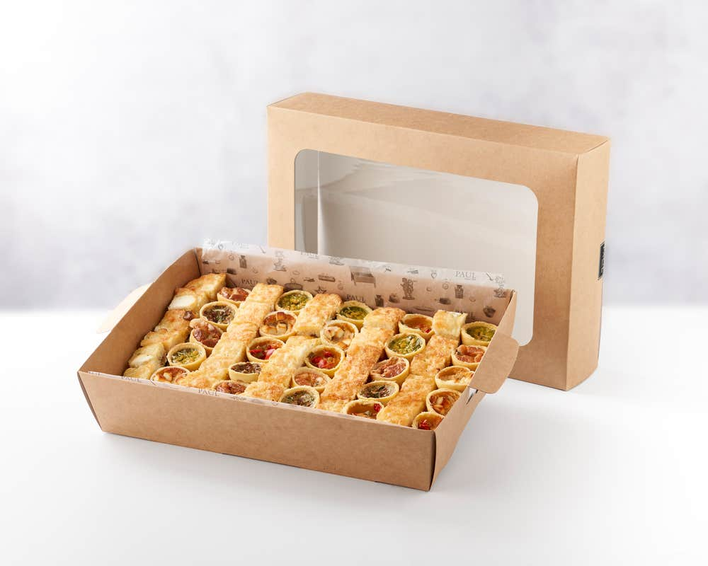 Plateau De Mini Quiches & Croques - 65 Pieces front view