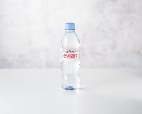 Evian 50 cl front view