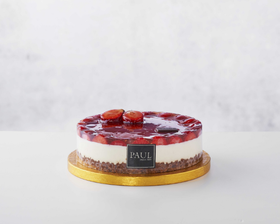 Happy Valentine's Day with our Strawberry Cheesecake and personalised message for a day of sharing love