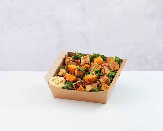 Tofu & Sweet Potato Salad