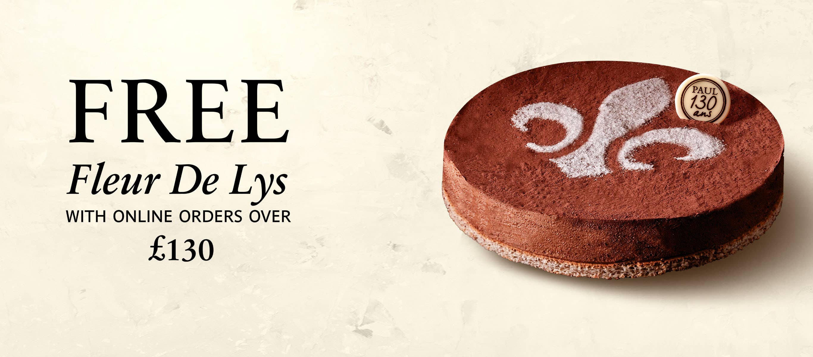 Spend 130, Free Cake