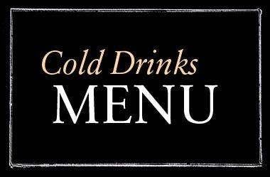COLD DRINKS MENU