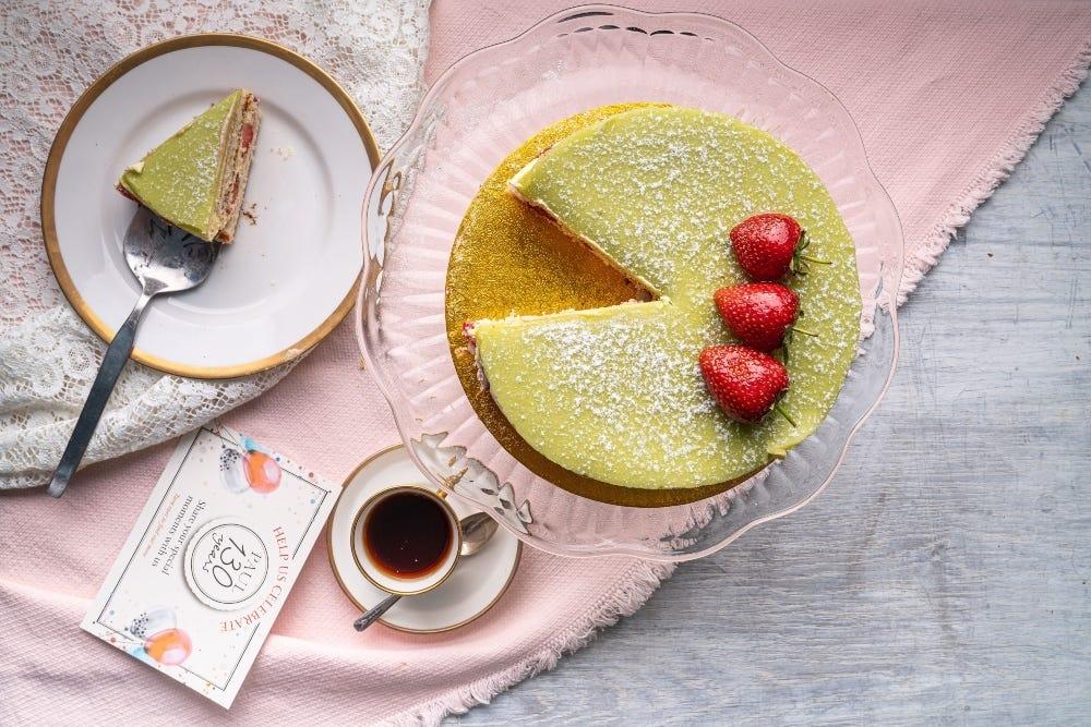 Fraisier cake strawberry