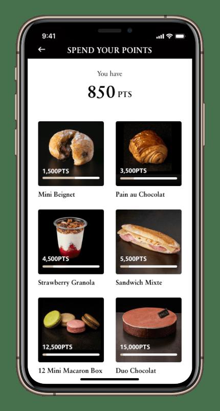 paul app points screen